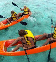 glass bottom kayak beach and snorkel adventure bonaire 1